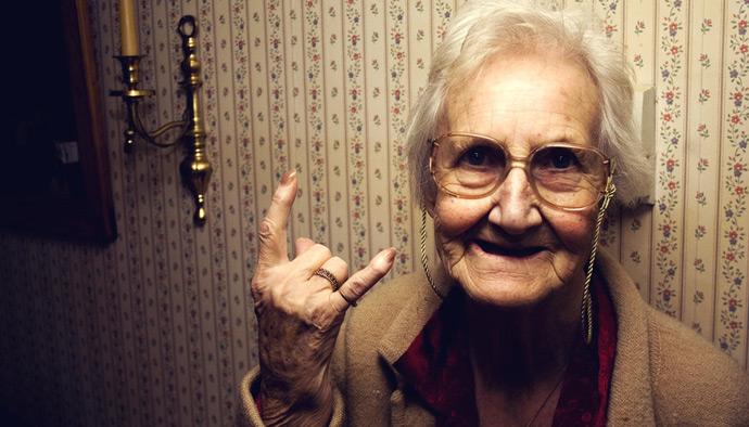 Бабуля в интернете