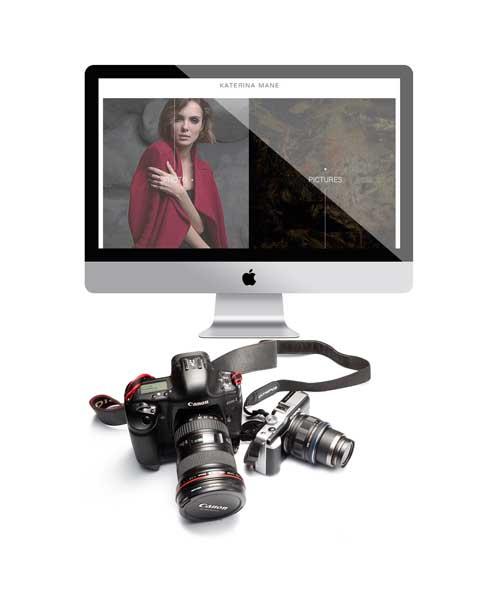 Сайт для фотографа и художника